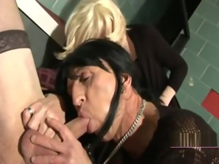 party Sissy platoon crossdressers fucking anal and blowjob sissy