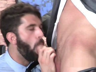 business Rough gay business men going all in with hot kisses and anal sexual relations gay